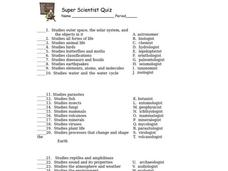 Super Scientist Worksheet - Calleveryonedaveday