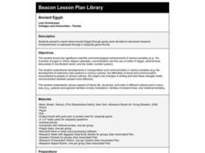 Ancient Egypt Lesson Plan