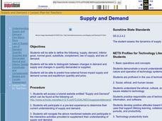 Supply and Demand Lesson Plan