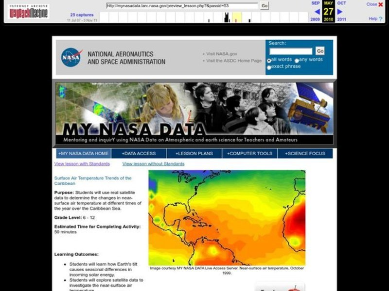 Surface Air Temperature Trends of the Caribbean Lesson Plan
