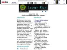 Suspension Bridge Construction Lesson Plan