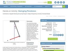 Swinging Pendulum Lesson Plan