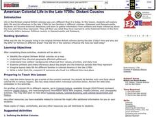 American Colonial Life in the Late 1700s: Distant Cousins Lesson Plan