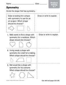 Symmetry: Problem Solving Worksheet