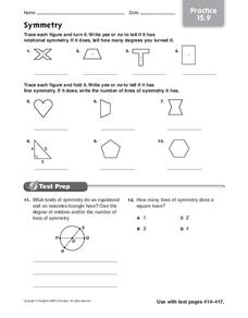 Symmetry: Practice Worksheet