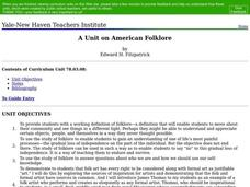 American Folklore Lesson Plan