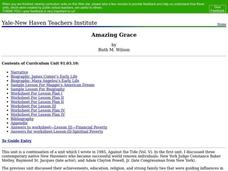 Amazing Grace Lesson Plan