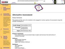 Alternative Assessment Lesson Plan
