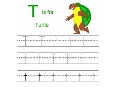 T is for Turtle Worksheet