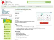 American History Review Lesson Plan
