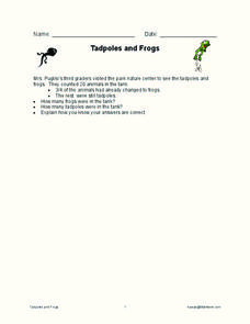 Tadpoles and Frogs Worksheet