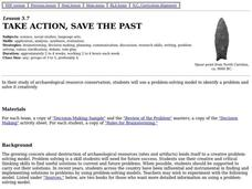 Take Action, Save the Past Lesson Plan