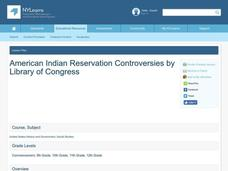 American Indian Reservation Controversies Lesson Plan