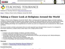 Taking a Closer Look at Religions Around the World Lesson Plan