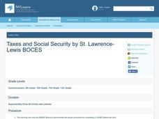 Taxes and Social Security Lesson Plan