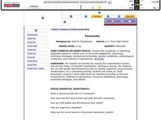Taxonomy Lesson Plan