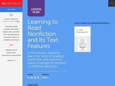Teach Text Features & Read Nonfiction Lesson Plan