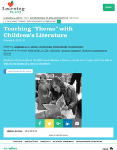 "Teaching ""Theme"" with Children's Literature Lesson Plan"