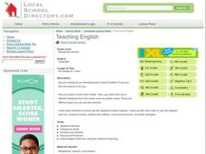 Teaching English Lesson Plan