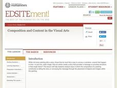 An Introduction to the Relationship Between Composition and Content in the Visual Arts Lesson Plan