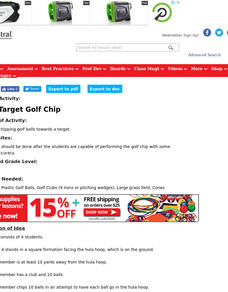 Team Target Golf Chip Lesson Plan
