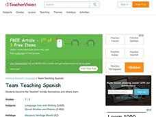 Team Teaching - Spanish Lesson Plan