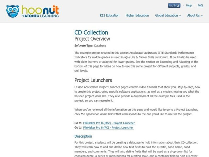 Tech Integration Project Lesson Accelerator: Project Overview Activities & Project