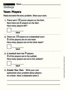 Team Players Worksheet