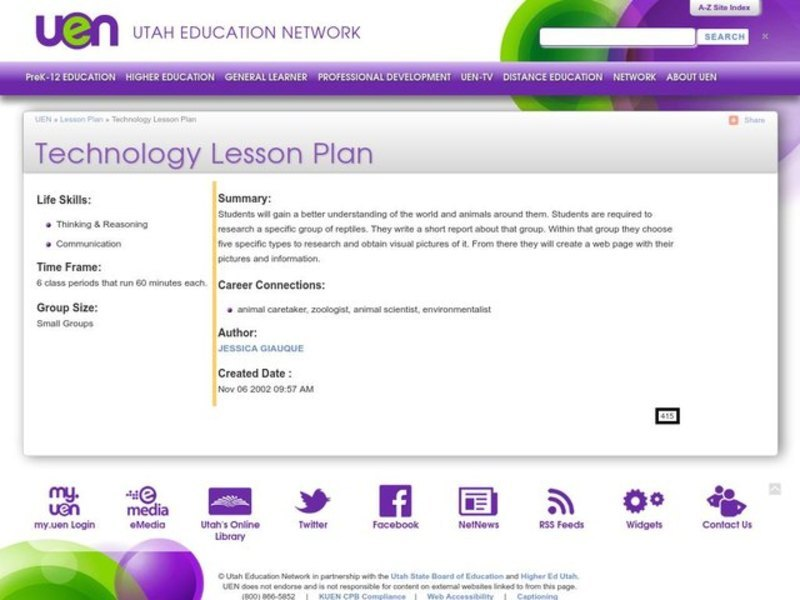 Technology Lesson Plan Lesson Plan