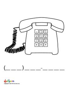 Telephone Number Worksheet