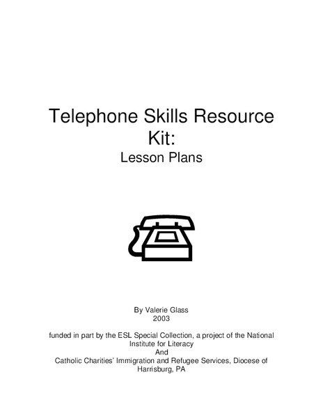 Telephone Skills Lesson Plan