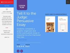 Tell It to the Judge - Persuasive Essay Lesson Plan