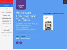 American Folktales and Tall Tales Lesson Plan