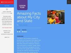 Amazing Facts About My City And State Lesson Plan