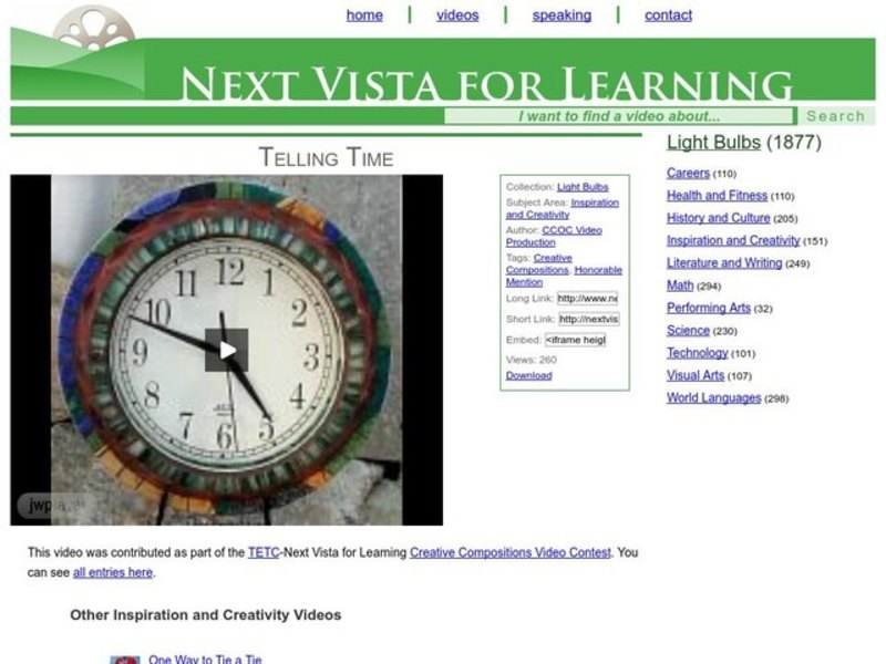Telling Time Video