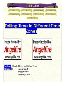 Telling Time In Different Time Zones Lesson Plan