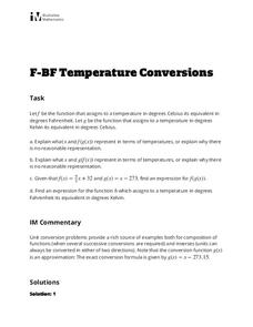 Temperature Conversions Lesson Plan