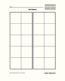 Ten Frames Worksheet