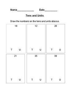 Tens and Units Worksheet
