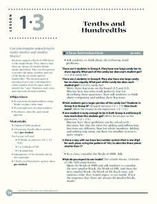 Tenths and Hundredths Lesson Plan