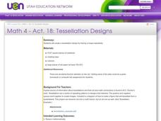 Tessellation Designs Lesson Plan
