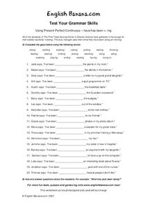 Test Your Grammar Skills Worksheet