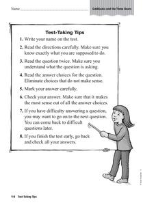 Test-Taking Tips Graphic Organizer