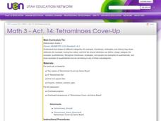 Tetrominoes Cover-Up Lesson Plan