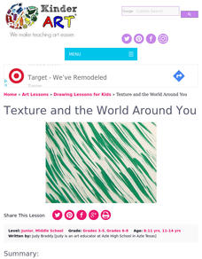 Texture And the World Around You Lesson Plan