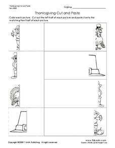 Thanksgiving Cut and Paste Worksheet