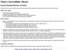 That's Incredible Show! Activities & Project