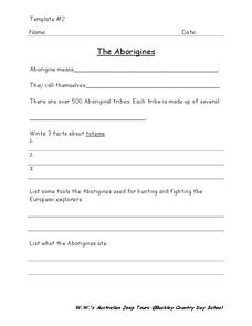 The Aborigines Worksheet