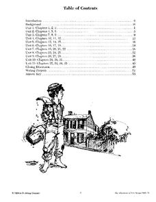 The Adventures of Tom Sawyer Lesson Plans & Worksheets