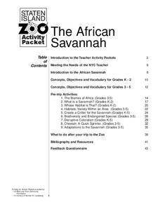 The African Savanna Lesson Plan